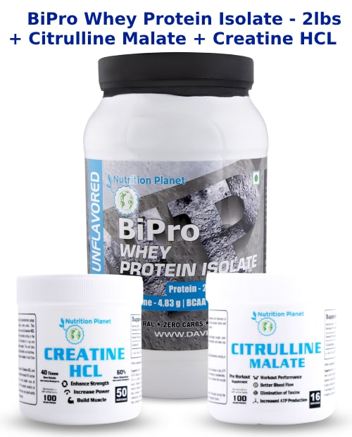 (COMBO 2)-BiPro Whey Protein Isolate + Citrulline Malate + Creatine HCL