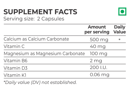 Nutrition Planet Calcium Vitamin D3 Nutrition Facts