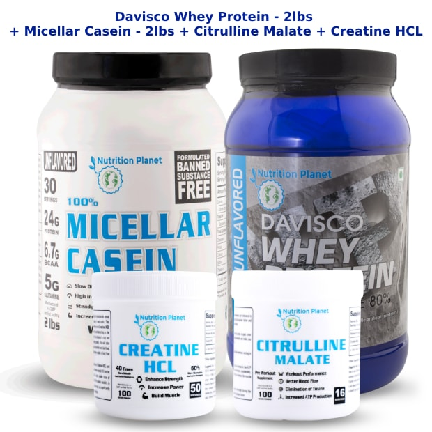 (COMBO 4)-Davisco Whey Protein + Micellar Casein + Citrulline Malate + Creatine HCL
