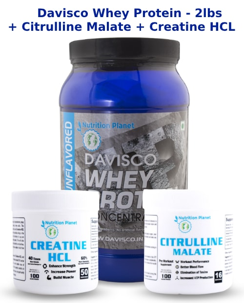 (COMBO 1)-Davisco Whey Protein + Citrulline Malate + Creatine HCL