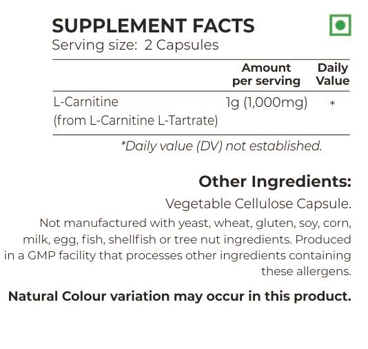 Nutrition Planet L-Carnitine Nutrition Facts